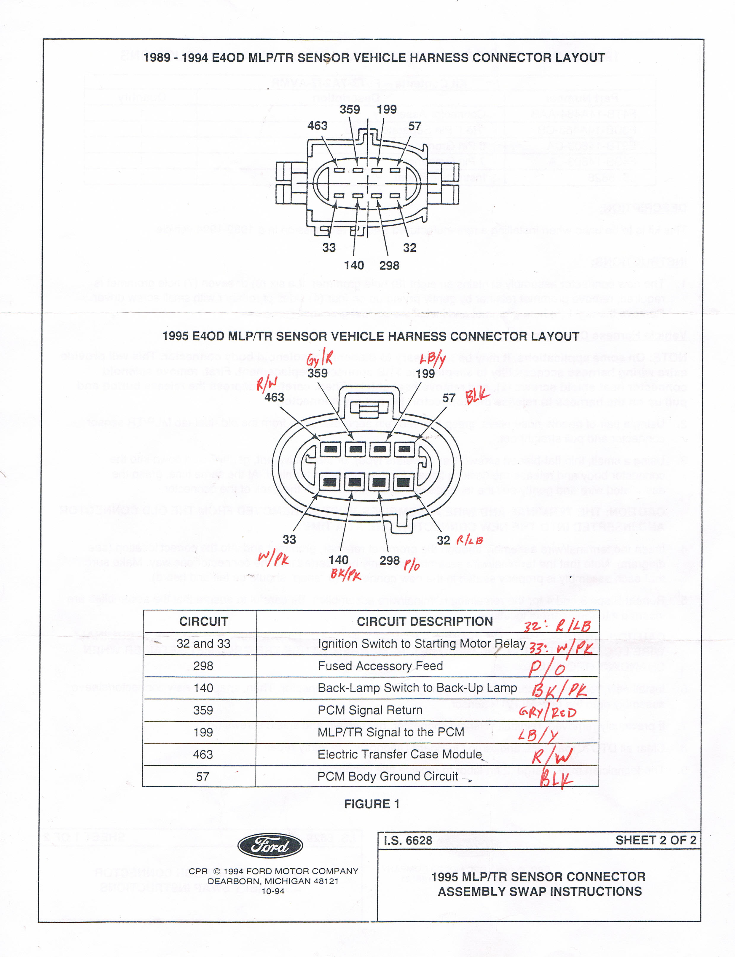 Powertrain Transmission E40d Wiring Diagram Library For Mg Midget Ccf12192012 00000 Connector Wrong Wire Location