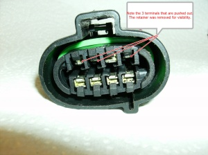 connector pushed out pins