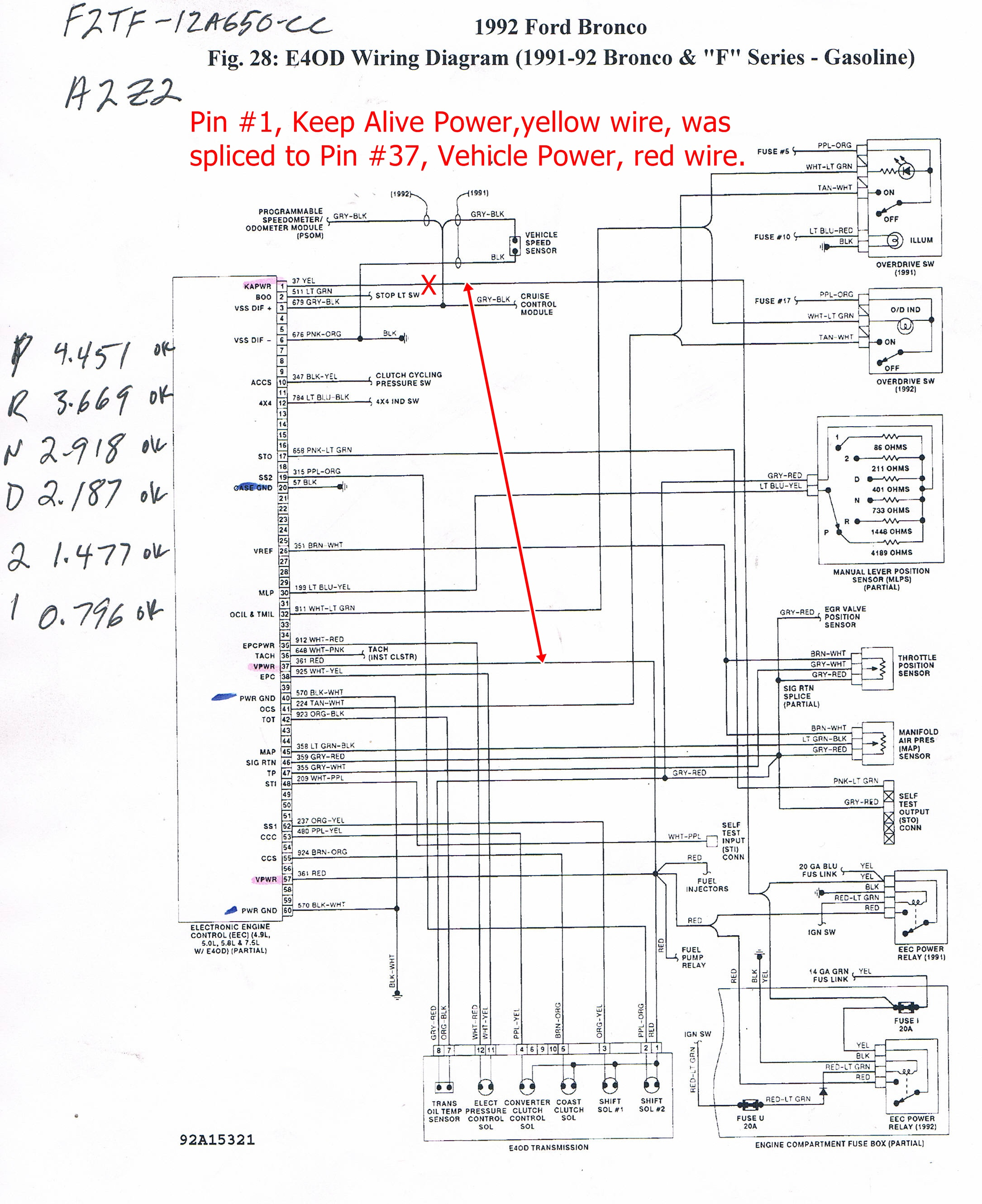 Wire Diagram on 1989 Lincoln Town Car Fuse Box Diagram
