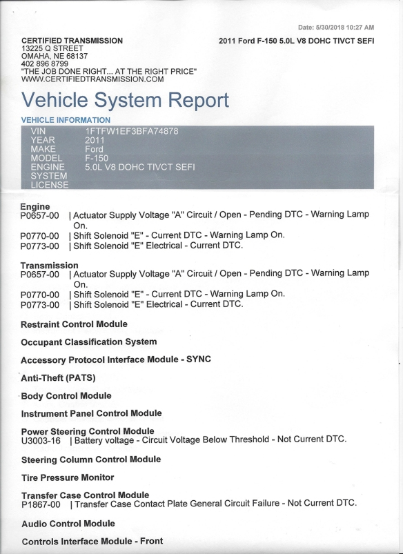 2011 Ford F150 Electrical Diagnosis – The Transletter